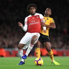 Alex Iwobi scored an early goal for Arsenal but things went downhill after that. Picture: MIKE EGERT