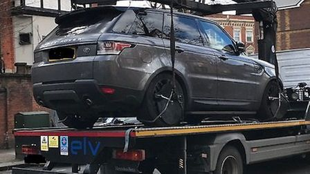 Range Rover towed by Brent Council civic enforcement officers. Picture: Brent Council