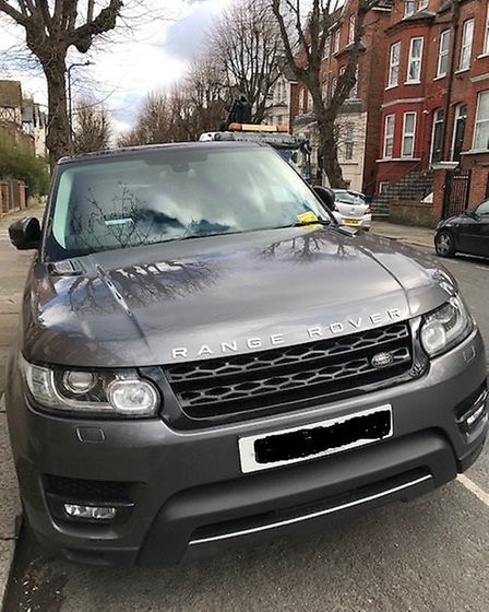 Range Rover ticketed by Brent Council civic enforcement officers. Picture: Brent Council