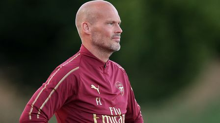 Freddie Ljungberg of Arsenal on the touchline during AFC Hornchurch vs Arsenal Under-23, Friendly Ma