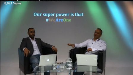 """Haroon Qureshi and Rocky Mirza in a September 2017 """"webinar"""" to recruit more Leverage investors."""