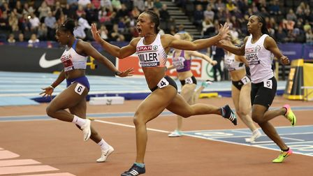 Thames Valley Harriers' Rachel Miller finished second behind Asha Phillips at the British Indoor Cha