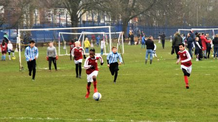 Islington on the attack against Camden (Pic: Michael MacNeill)