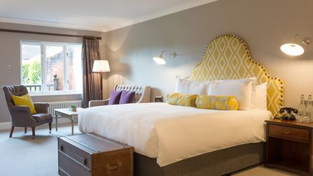 The garden suites are spacious modern rooms with rustic relishes