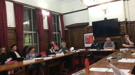 The housing scrutiny committee discusses NowMedical. Picture: Islington Gazette