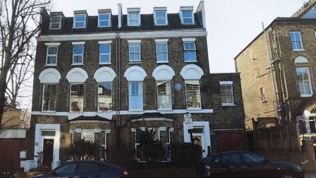 The Victorian villas in Hungerford Road, which have been unlawfully demolished. Picture: Islington C