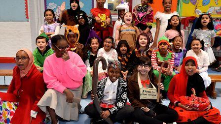 World Book Day 07.03.19.Copenhagen Primary School in Islington celebrated with a day of book themed
