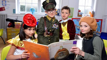 World Book Day 07.03.19.Thornhill Primary School in Islington celebrated with a day of book themed