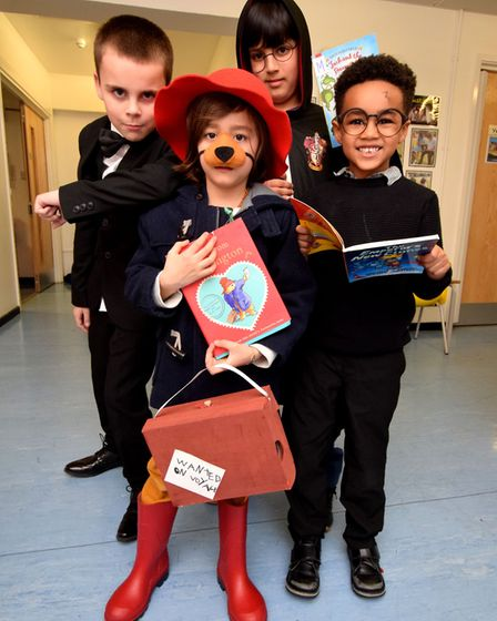World Book Day 07.03.19.St Andrews Primary School in Islington celebrated with a day of book themed