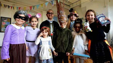 World Book Day 07.03.19.Canonbury Primary School in Islington celebrated with a day of book themed