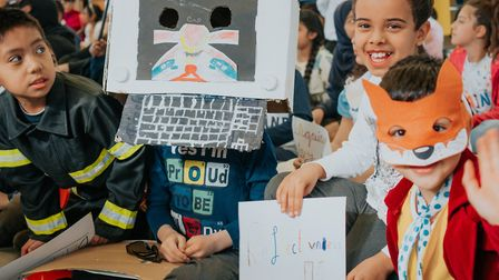 A special assembly to celebrate World Book Day at Wilberforce Primary School. PIcture: Brunel Johnso