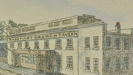 The Rosemary Branch Tavern in 1845. Picture: London Metropolitan Archives