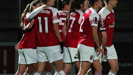 Arsenal Women beat Bristol City Women 4-0. CREDIT ARSENAL FC