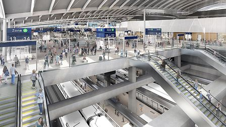 How HS2 station in Old Oak Common might look. PIcture: HS2