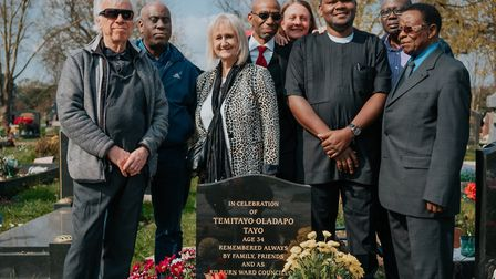 Friends and supporters of the late Cllr Tayo Olapado held a memorial after fundraising for a gravest