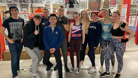 New College of Humanities (NCH) students at Islington Boxing Club