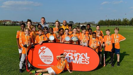 Islington youngsters celebrate their success at the London Youth Games spring finals (pic Ying Pan W