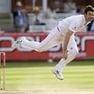 England's James Anderson bowls at Lord's Cricket Ground, London. PA
