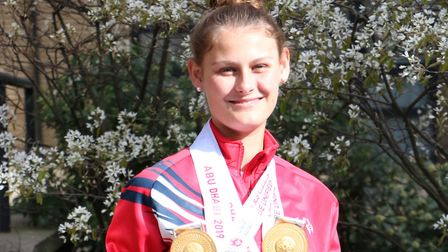 Lily Mills won two gold medals at the Special Olympics World Summer Games (pic: New City College)