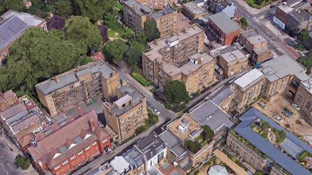 The St Mary's Path Estate with Upper Street in the bottom left-hand corner. Picture: Google StreetVi