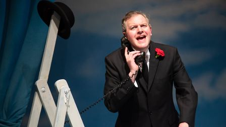 Miles Jupp in The Life I Lead at Park Theatre picture by Piers Foley