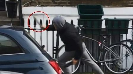 A knife-wielding teenager chasing Nashon just before he was stabbed five times. Picture: Met Police