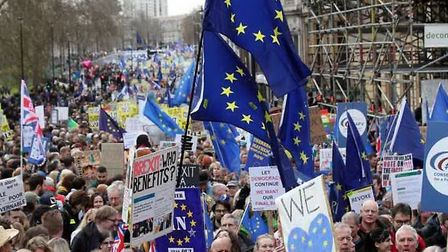An anti-Brexit march through London. Picture: PA