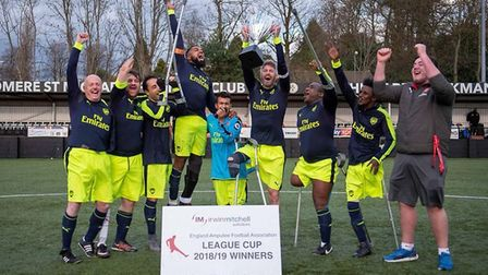Arsenal Amputee team claimed the League Cup