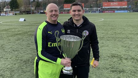 Panshanger Football Club chairman Peter Monk was part of the Arsenal Amputee squad that won the EAFA