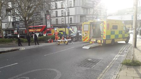 A man died after being hit by a car in York Way. Picture: Paul Convery