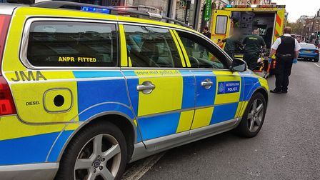 A man injured his ankle after slipping on dog poo in Pentonville Road. Picture: @MPSRTPC