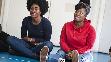 Two performers starring in the two week Mapping Brent theatre festival. Picture: Pamela Raith