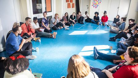 Mapping Brent creatives preparing for their productions. Picture: Pamela Raith