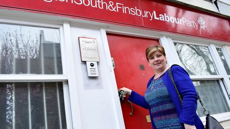 Emily Thornberry MP at her constituancy office in Barnsbury Street. Picture: Polly Hancock