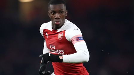 Arsenal's Eddie Nketiah. Picture: Adam Davy/PA Archive/PA Images