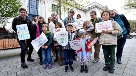 Islington climate activists meet at Islington Town Hall on ther way to Parliament Square for the 3rd