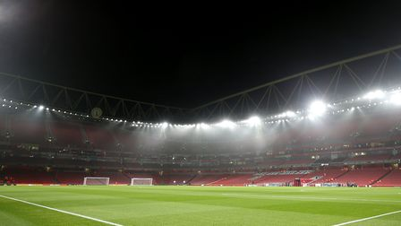 A general view of the pitch at the Emirates Stadium (pic Steven Paston/PA)