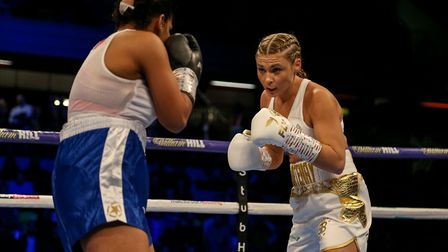 Shannon Courtenay (right) in action against Cristina Busuioc (pic: Paul Harding/PA)