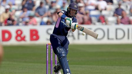 Nick Gubbins of Middlesex in batting action (pic Nick Wood/TGS Photo)