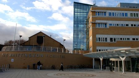 The Whittington Hospital in Archway. Picture: Steve Parsons/PA Wire