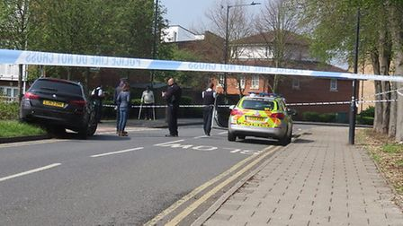 A man was shot in Chalkhill Road. PIcture: Martin Francis