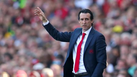 Arsenal manager Unai Emery gestures on the touchline (pic Bradley Collyer/PA)