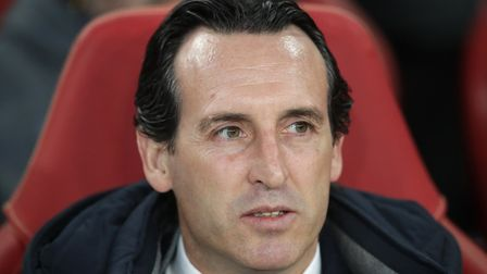 Arsenal manager Unai Emery during the UEFA Europa League quarter final, first leg match at The Emira