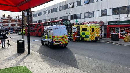 A teenager was stabbed on board a 245 bus in Cricklewood. Picture: Richard Rowland