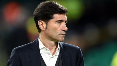 Valencia manager Marcelino Garcia Toral during the UEFA Europa League round of 32, first leg match a
