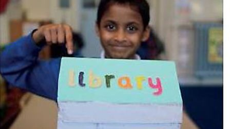 Children at Thornhill Primary School helped design plans for their new library. Picture: Thornhill P