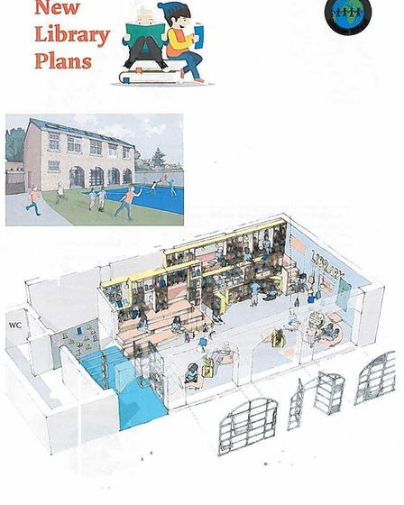 Provisional plans for Thornhill Primary School's new library. Picture: Thornhill Primary School