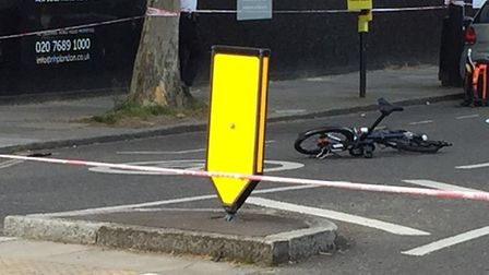 The scene of the hit-and-run in Swain's Lane, near the Highgate Road junction.