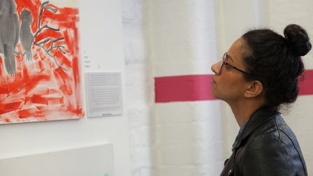 The exhibition was created by mental health serivce users. Picture: Wamaitha Ng'ang'a