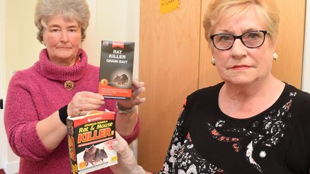 Patricia Murray and Margaret Duffy allege Cutbush House is infested with mice. Picture: Polly Hancoc